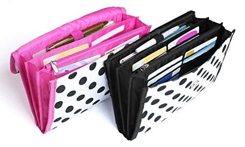 Y-Styleママの欲しいがつまった母子手帳ケースマルチケースジャバラ3人分2人分パスポート通帳保険証2・3人用(ブラック)