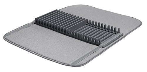Umbra 330720-149, Escurreplatos plegable con escurridor, color gris, 60 x 46