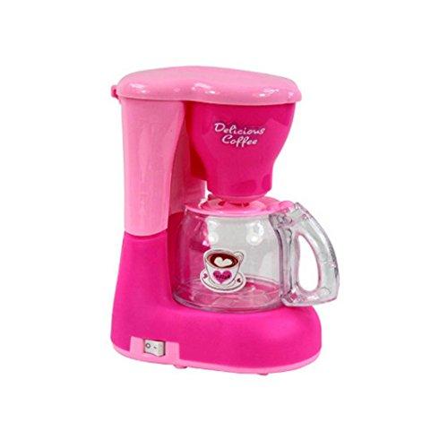 Oyedens Familienküche Baby Kid Entwicklungs Lernspielzeug Simulation HaushaltsgeräTe KüChe Spielzeug (Rosa Kaffeemaschine)
