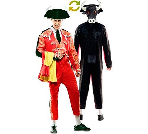 EUROCARNAVALES Disfraz Doble de Torero y Toro para Hombre