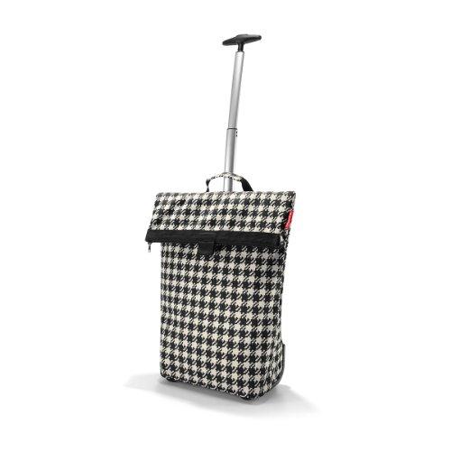 Reisenthel Trolley M, Einkaufstasche, Einkaufskorb auf Rollen, Baroque Taupe, NT7027, Fifties (Schwarz) - RA-NT7028