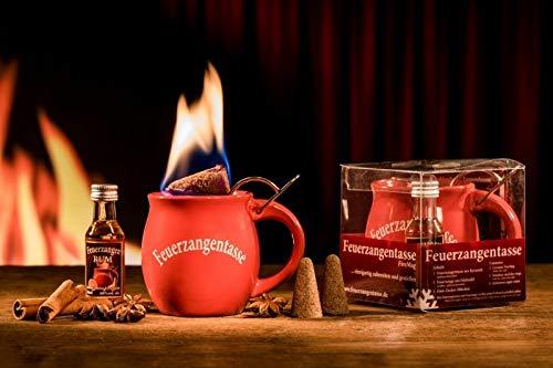 Feuerzangentasse 1er-Set, Rot (mit Rum) - für Feuerzangenbowle
