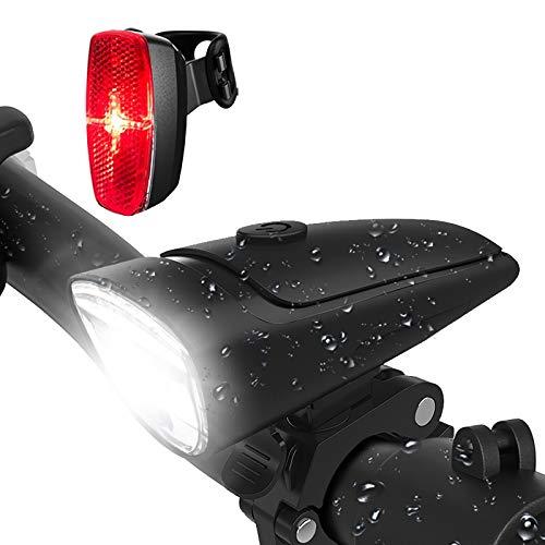 LIFEBEE LED Fahrradlicht, Batterie Fahrradbeleuchtung Fahrradlampe Fahrradlicht Vorne Rücklicht Set, Wasserdicht Batterieleuchtenset für Fahrrad, 2 Lichtmodi, Batterie Nicht inklusive