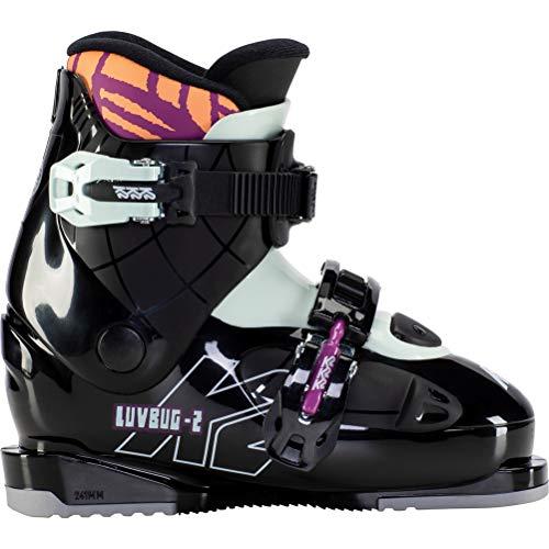K2 Skis Mädchen Luvbug - 2 Skischuhe, Black - Mint, Mondo: 19.5 (EU: 32 / UK: 12 / US: 13)