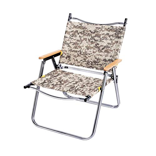 YLCJ Outdoor Folding Chair Camouflage Pieces Self-Driving Portable Leisure Chair Camping Table and Chair