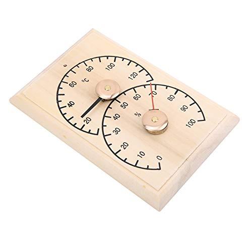 SANON Digitales Saunaraumthermometer Hölzernes Saunahygrothermographenthermometer Hygrometer für Saunaraum Bad Schweißstromraum