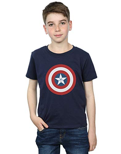 Marvel Garçon Captain America Civil War Shield T-Shirt Bleu Marin 5-6 Years