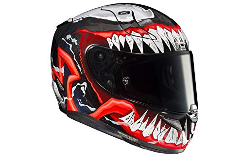 HJC Unisex-Adult Full Face RPHA-11 PRO Venom 2 (Black/Red/White, Large)