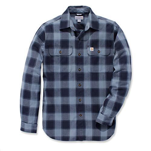 Carhartt Hubbart Slim Fit Flannel Hemd, Größe:S, Farbe:blau