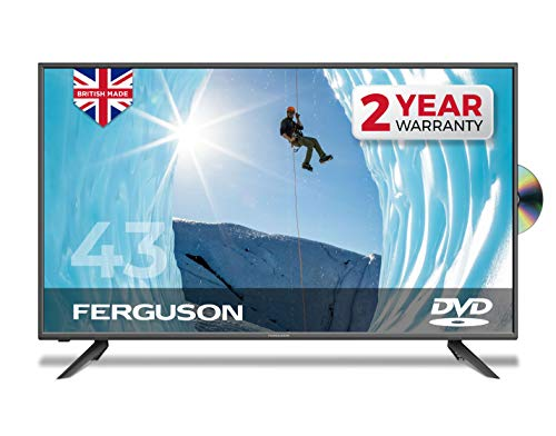 "Ferguson 43"" inch Full HD LED TV With DVD Player, Freeview HD, USB & 3 x HDMI - British Manufacturer - F4320F (New 2020 Model)"