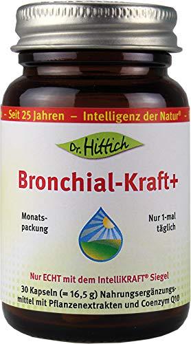 Bronchial Kraft+ - 30 Kapseln - Bronchien, Immunsystem und Schleimhäute unterstützen. Statt Husten, jetzt wieder frei atmen - Von Dr. Hittich