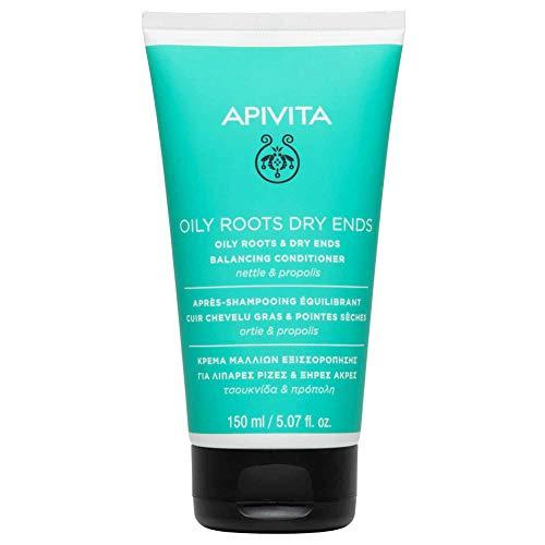 Apivita - Acondicionador equilibrante raíz grasa puntas secas ortiga & propóleo