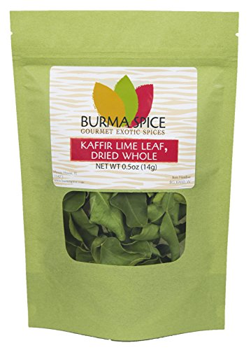 Kaffir Lime Leaves, Dried   Key Ingredient in Thai cuisine   USA grown and packaged   Whole uncrumpled leaves   Farm to table in days