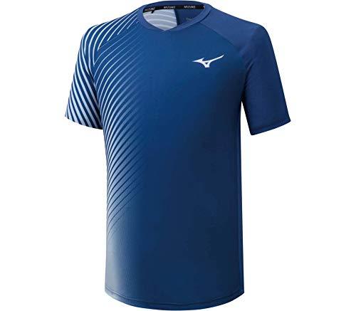 Mizuno Shadow Graphic tee Camiseta, Hombre, True Blue, S