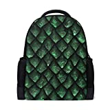ALAZA Dragon Scale Casual Backpack Waterproof Travel Daypack Children School Bag