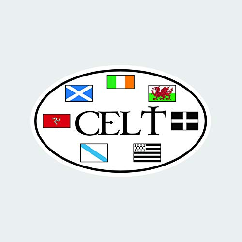 fagraphix Oval Celtic Flags Sticker Self Adhesive Vinyl Decal Celtic Nations