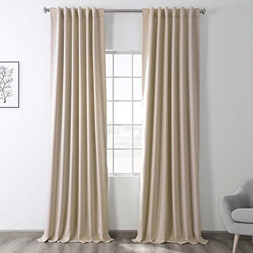 HPD Half Price Drapes BOCH-120601-96 Eggnog Blackout Room Darkening Curtain (1 Panel), 50 X 96
