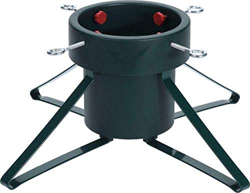 Traditional Christmas Tree Stand, Metal Frame, Strong Plastic Holder,...