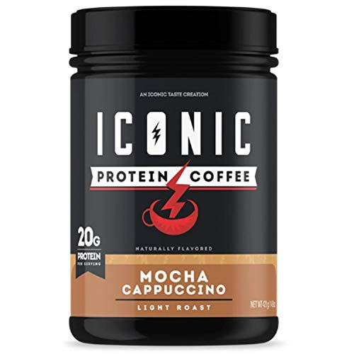 ICON Meals Protein Coffee, Premium Whey Protein, 150mg of Caffeine, Nootropic Blend, Gluten-free & Non-GMO, Energy and Focus, Keto Friendly, Low Carb, High Protein (Mocha Cappuccino)