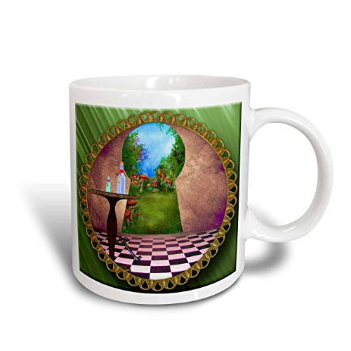 NA A través de los Ojos de la Cerradura Alicia en el país de Las Maravillas Botella de Piso a Cuadros de Taza de Agua mágica, cerámica
