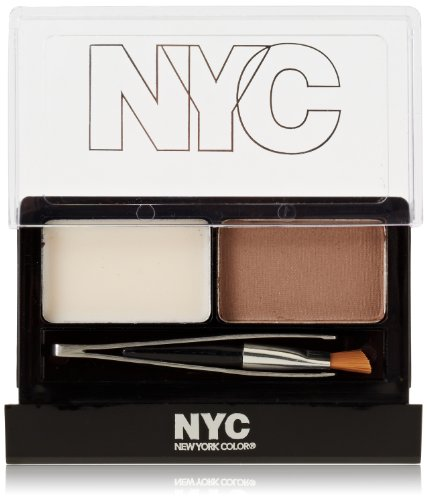 New York Color Browser Brush On Brow Kit, Brunette (Pack of 2)