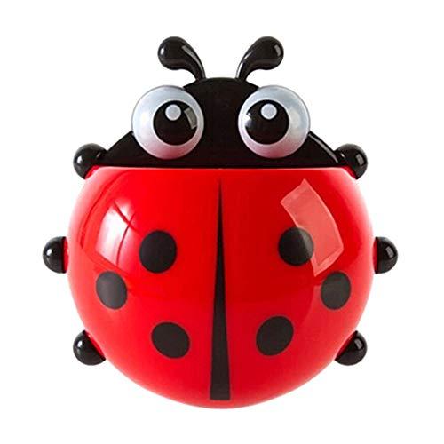 jhtecu Ladybug - Soporte para cepillos de Dientes con Ventosa para Pared, diseño de...