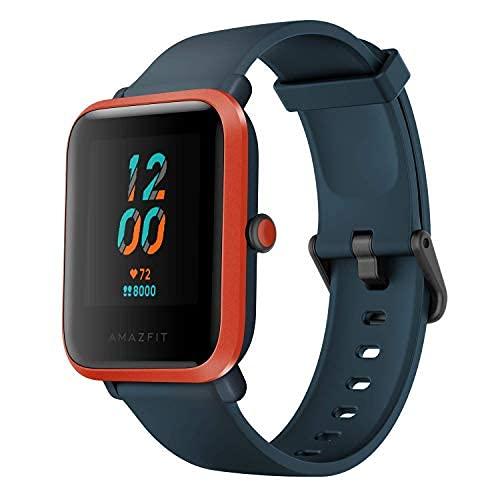 Amazfit Smartwatch Bip S Orologio Intelligente Fitness Tracker Cardio Frequenzimetro per Monitor da Palestra Batteria utile 40 Giorni, Impermeabile con 5 ATM Bluetooth 5.0   BLE Andriod e iOS-Arancia