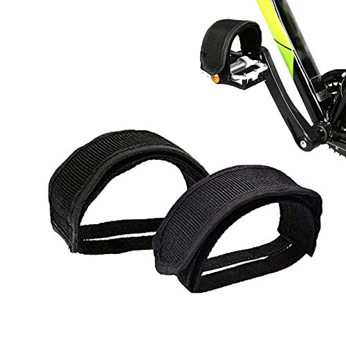 Weilisi 1 Pair Bike Pedal Straps,Adjustable Nylon Pedal Straps,Bike Foot Straps for Beginners