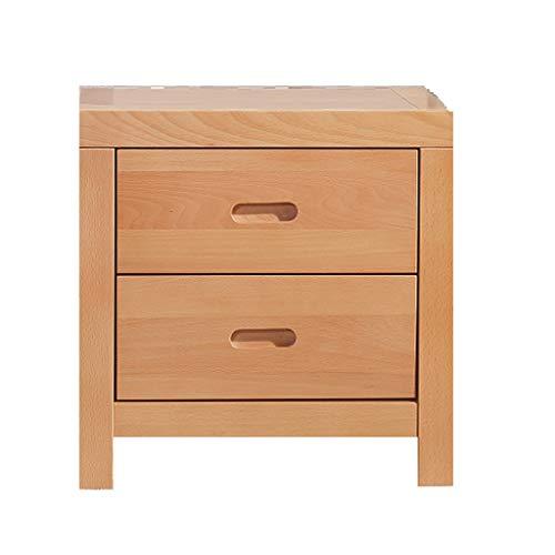 nachtkastje LHY- massief houten nachtkastje Eenvoudige houten kleur moderne beuken nachtkastje Handig