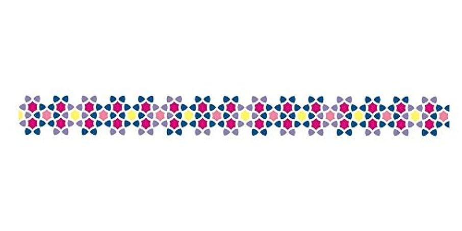 Washi Die-Cut Pavilio Mini Lace Tape, Suite Arissamu Purple Mosaic Stars