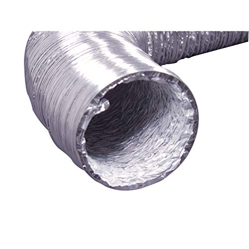 "Deflecto Flexible Foil Dryer Transition Duct, 4"" x 5', (F0405B/4)"