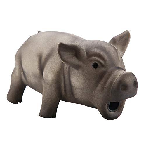 FTVOGUE Hundekauen Spielzeug Nettes Schwein Grunzen Quietschen Latex Pet Chew Spielzeug für Hundewelpen-Spielzeug(03)
