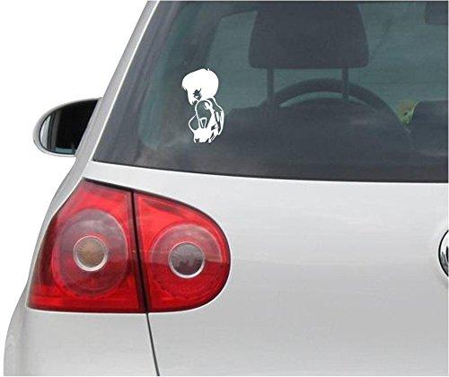 Preisvergleich Produktbild INDIGOS UG Aufkleber - Autoaufkleber - JDM - Die Cut - Evangelion Sticker Rei Ayanami Laptop Fenster Sticker - weiß - 86mmx149mm