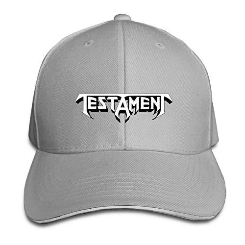 N/A Testament4 - Gorra de béisbol de poliéster unisex para todas las estaciones, cómoda y transpirable gris Talla única