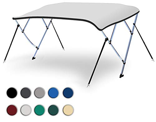 Why Choose Naviskin White 3 Bow 6'L x 46 H x 73-78 W Bimini Top Includes Mounting Hardwares,Stora...
