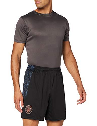 Puma - Pantaloncini da Uomo MCFC Replica, Uomo, Pantaloncini, 757110, Puma - Denim Nero Scuro, S