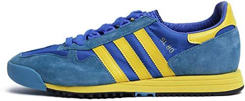 adidas Originals SL 80, Glory Blue-Yellow-Tactile Steel, 5