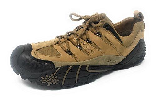 Woodland Men's Camel Leather Casual Shoes - 8 UK/India (42 EU)