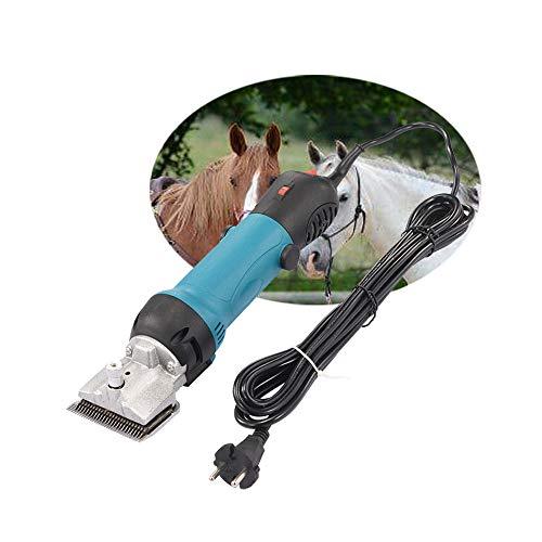 WWZL Professioneller Pferdehaarschneider, Kabellose Leistungsstarke Elektrische Scherschere, Pet Trimmer Farm Machine Für Pferde Rinder Schwein Kuh,Blau
