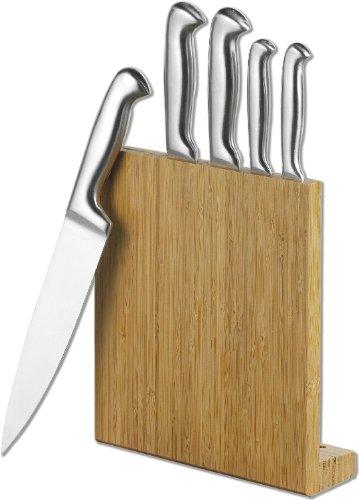 Esmeyer 291-349 8-TLG. Messerblock Celeste multifunktional Messergriffe aus 18/0 Edelstahl, Klingen aus Spezialstahl