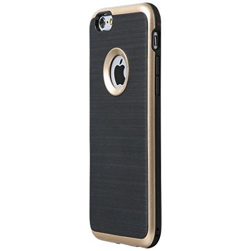 Ultratec Funda protectora de TPU / carcasa para iPhone 6 y iPhone 6 Plus con diseño de contrastes y borde de color