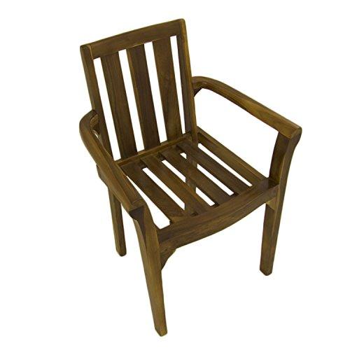Edenjardi Pack 2 sillones de jardín Teca Plegables | Madera Teca Grado A | Tamaño: 54x57x88 cm| Tratamiento al Agua aplicado | Portes Gratis