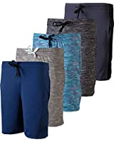 5 Pack: Big Boys Girls Youth Teen Printed Shorts Camo Mesh Dry-Fit Sport Active Athletic Knit Mesh Basketball Soccer Exercise Running Lacrosse Tennis Performance Gym Teen Clothing-St 1,XL (16/18)