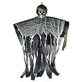 Halloween Skeleton, Decoraciones de Halloween Colgando Fantasma, 1m Largo Halloween Colgando Esqueleto Flying Fantasma Decoraciones, Halloween Animatronics, Decoraciones de Halloween, Accesorios de es