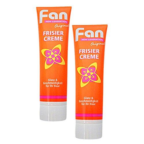 2er Pack Fan Frisiercreme Cospharma in Tube (2 x 100 ml) Haarpflege, Haarcreme, Haargel