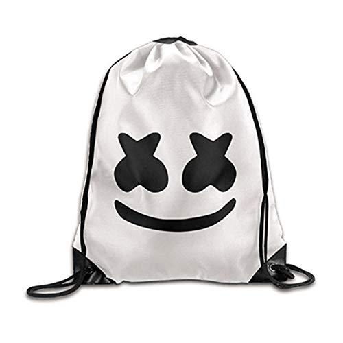 Gutyan Canvas Netter Rucksack Cosplay DJ Cos Halloween Kostüme Täglich Cosplay Rucksack Student Bag Weiß