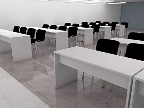 MESA BLANCA PARA AULAS. Mesas de gran calidad, robustas en madera bimelaminada, ideal para oficinas escuelas academias aulas reuniones 🔥