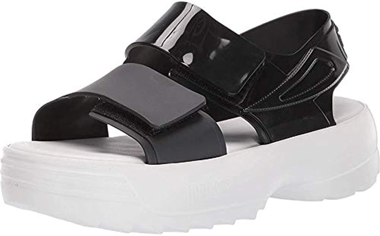 + Melissa Luxury shoes Women's x Fila Sandal Black White 7 UK (US Women's 9) B (M)