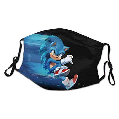 Made in usa Sonic The Hedgehog Protection Face Mask Adjustable Bandanas for Kids Boys Girls ChildrenSonic Adjustable Ear Loops