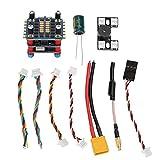 DAUERHAFT Componentes electrónicos 4 en 1 / Controlador de Vuelo multifunción 2-6S Conexión de Enchufe Maravilloso y práctico Accesorio para Accesorios de Drones de Carreras